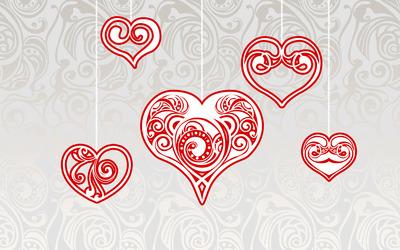 Hanging hearts wallpaper
