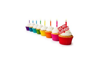 Happy Birthday cupcakes wallpaper