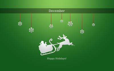 Happy December Holidays wallpaper
