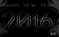 Silver Happy New Year 2016 wallpaper 1920x1200 jpg