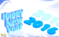 Blue Happy New Year 2016 wallpaper 1920x1200 jpg