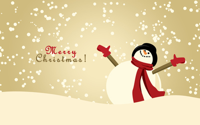 Happy snowman [2] wallpaper