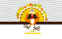 Happy Thanksgiving turkey wallpaper 3840x2160 jpg