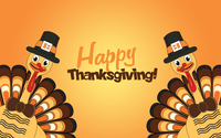 Happy Thanksgiving turkeys wallpaper 3840x2160 jpg