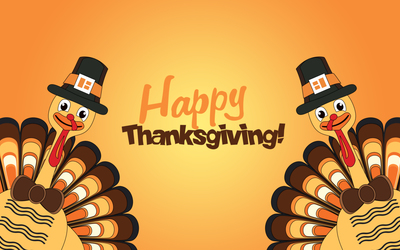 Happy Thanksgiving turkeys wallpaper