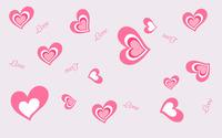 Heart and Love pattern wallpaper 1920x1200 jpg