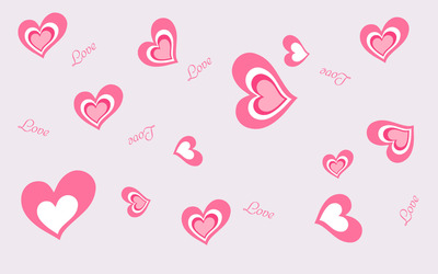 Heart and Love pattern wallpaper