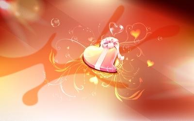 Heart candy box Wallpaper
