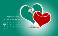 Heart couple Valentine's Day calendar wallpaper 3840x2160 jpg