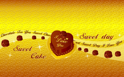 I love you cake wallpaper