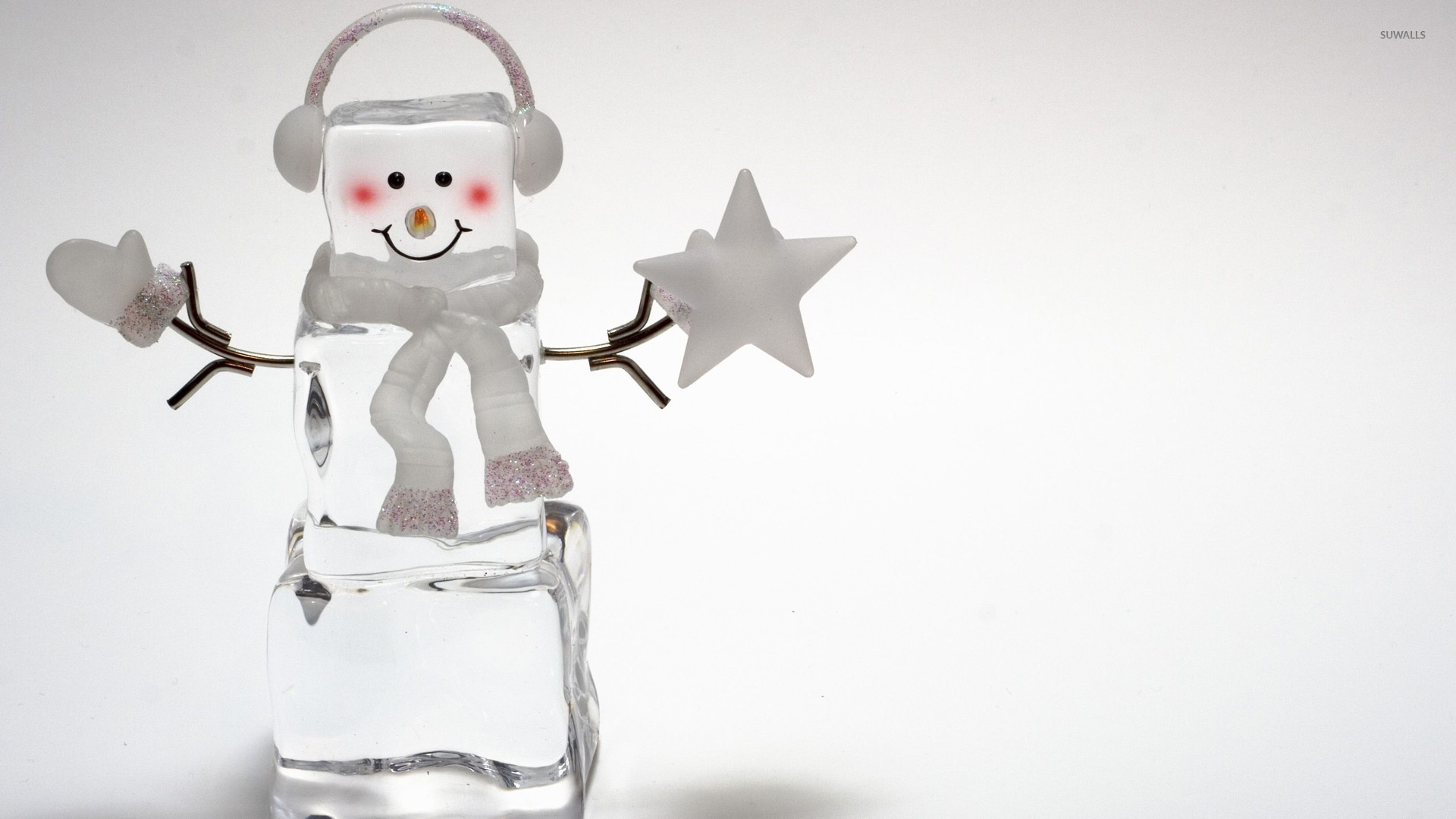 Ice cube snowman wallpaper - Holiday wallpapers - #26037