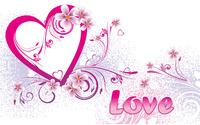 Love and pink heart wallpaper 1920x1200 jpg