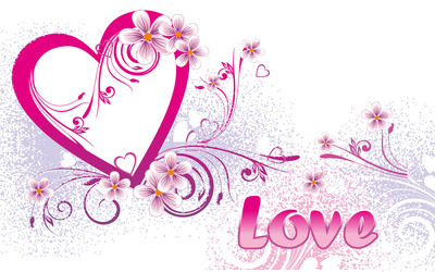 Love and pink heart wallpaper