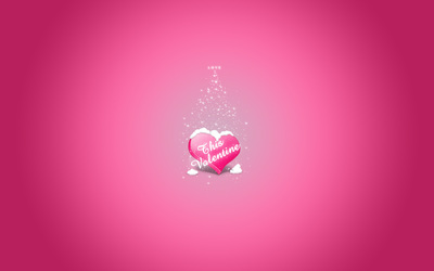 Love snowing on This Valentine wallpaper