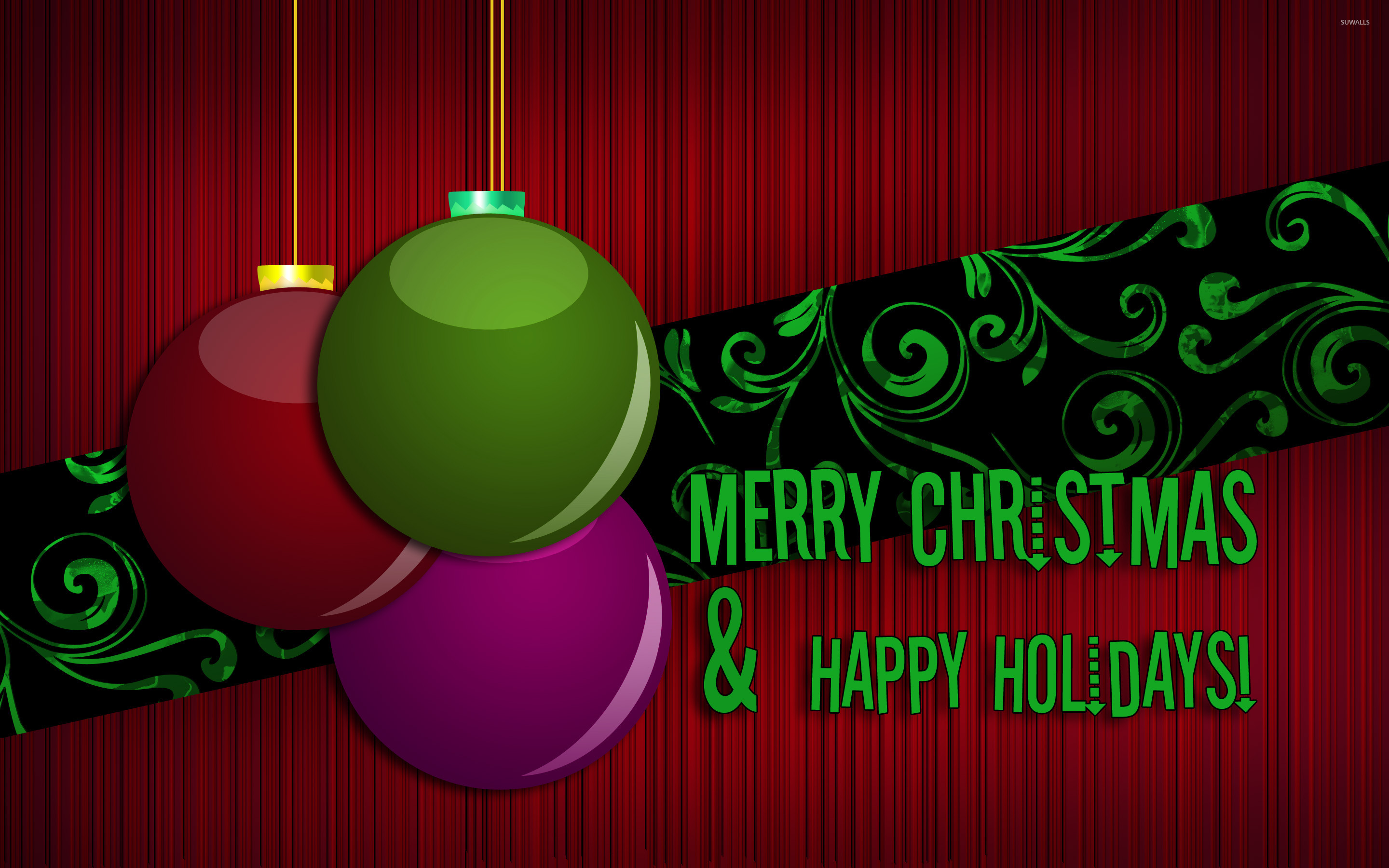 Merry Christmas and Happy Holidays wallpaper - Holiday wallpapers ...