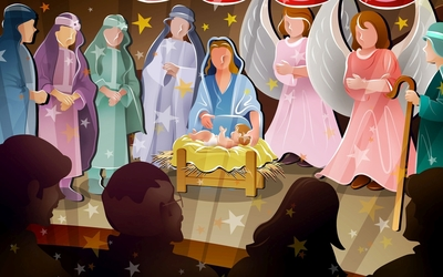Nativity scene [2] wallpaper