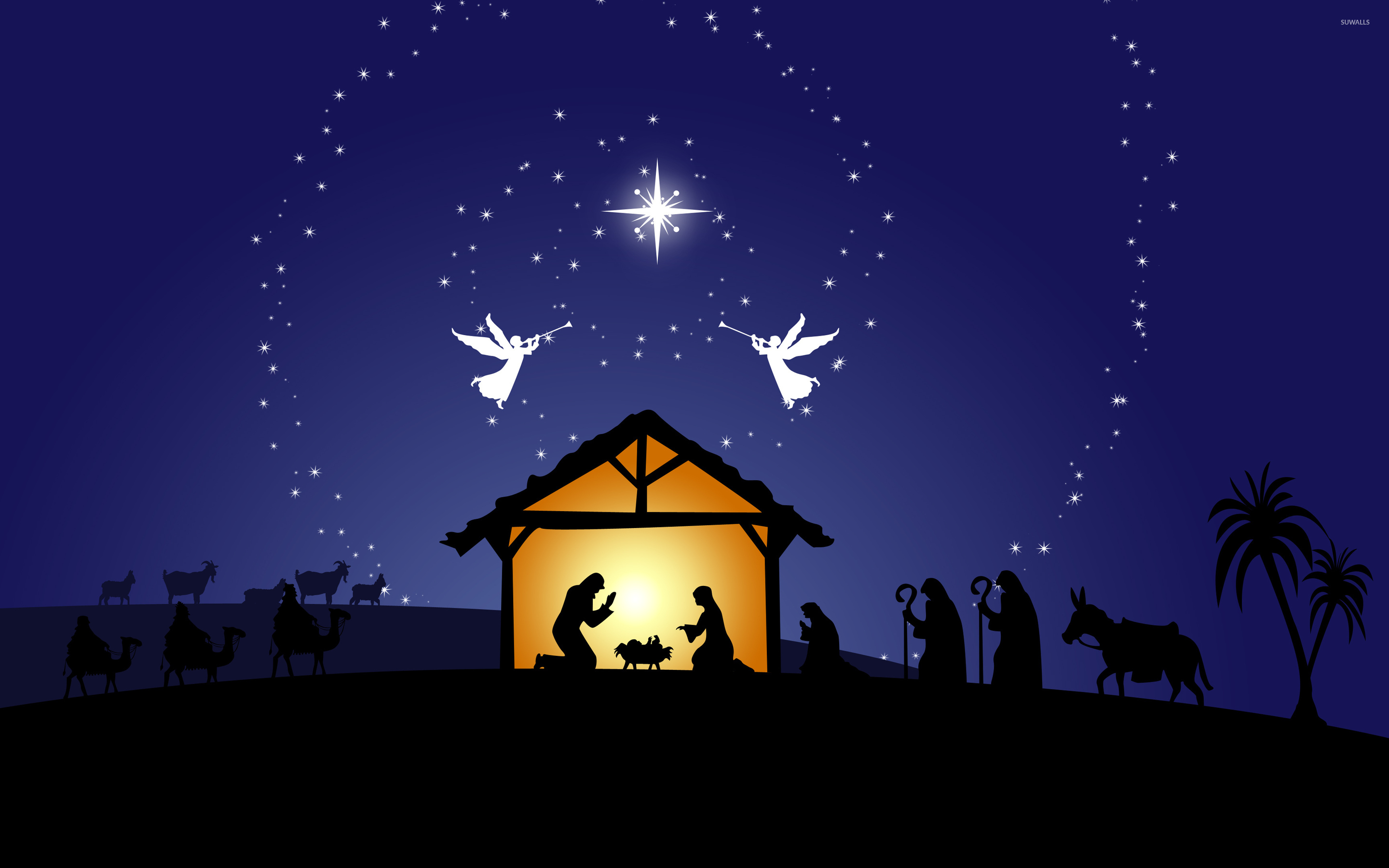 nativity scene wallpaper holiday wallpapers 50278