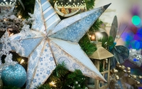 Old star in the Christmas tree wallpaper 1920x1200 jpg