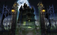 Open gates to the haunted mansion wallpaper 2560x1600 jpg