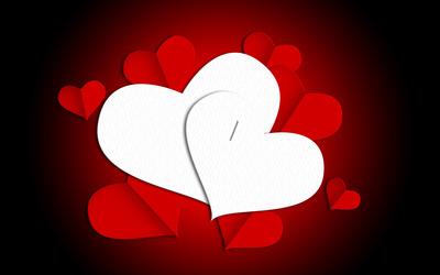 Paper hearts [2] wallpaper