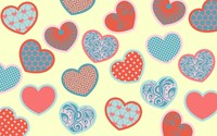 Patterned hearts wallpaper 2880x1800 jpg