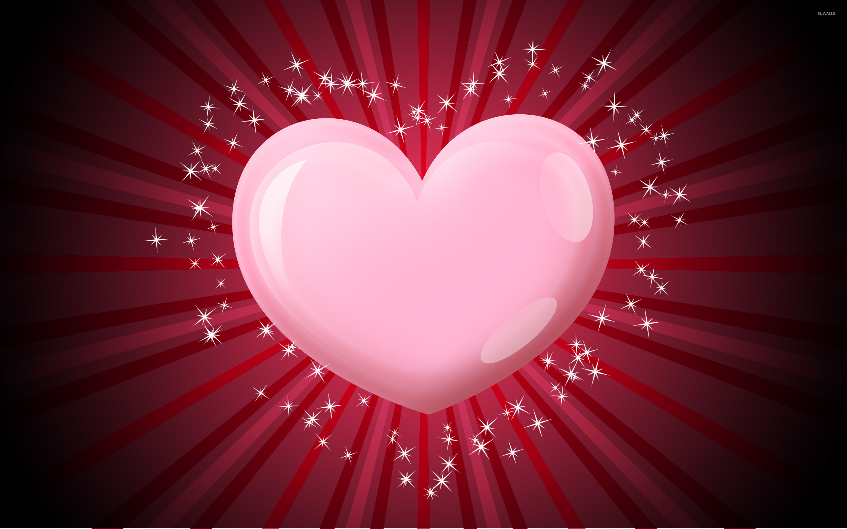 Pink Heart 2 Wallpaper Holiday Wallpapers 38794