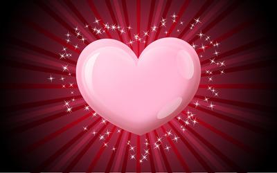 Pink heart [2] wallpaper