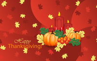 Pumpkins and candles on Thanksgiving wallpaper 3840x2160 jpg