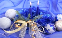 Purple candles decorating the Christmas Eve wallpaper 1920x1080 jpg