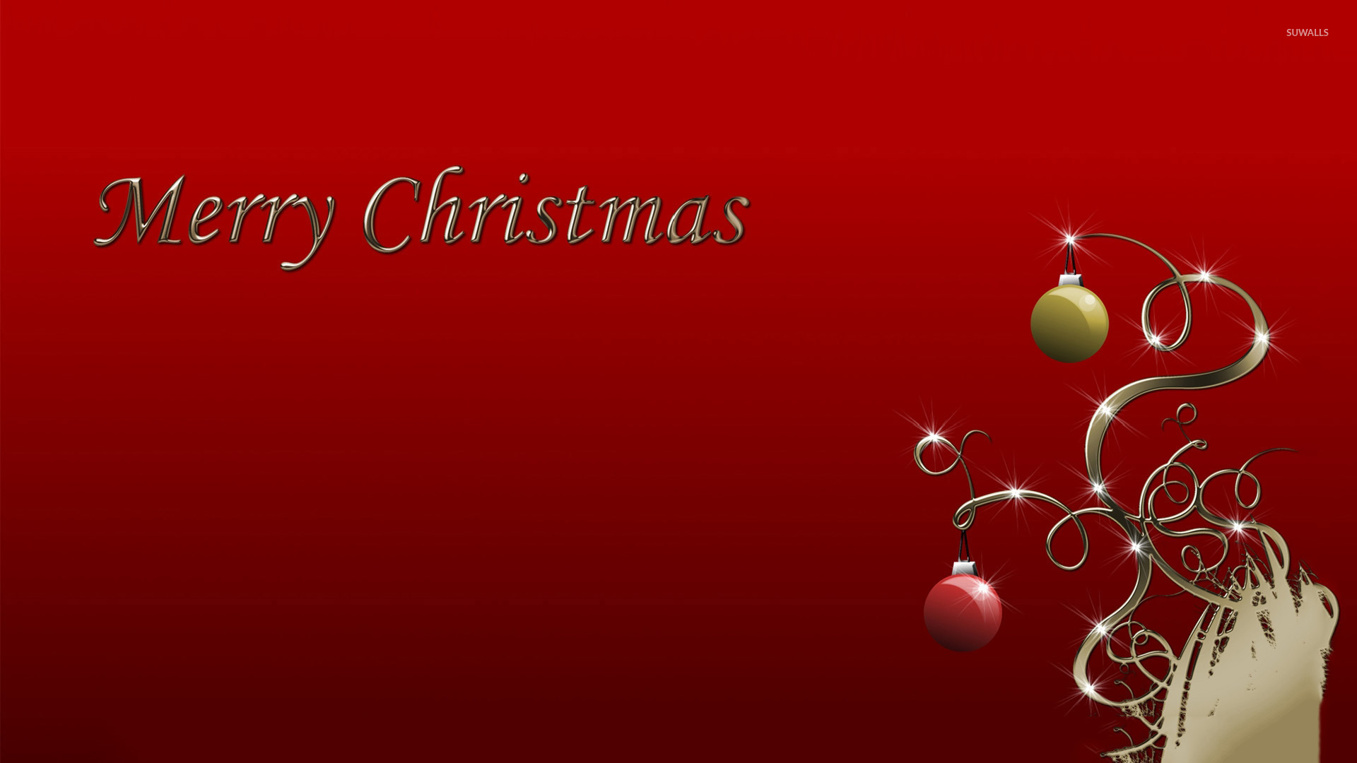 Red And Green Christmas Baubles Wallpaper Holiday Wallpapers