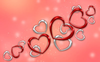 Red and silver hearts wallpaper 2880x1800 jpg