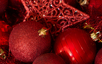 Red Christmas decoration wallpaper 3840x2160 jpg