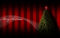 Red star on top of the Christmas tree wallpaper 1920x1080 jpg