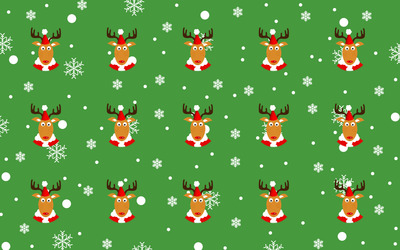 Reindeer pattern wallpaper
