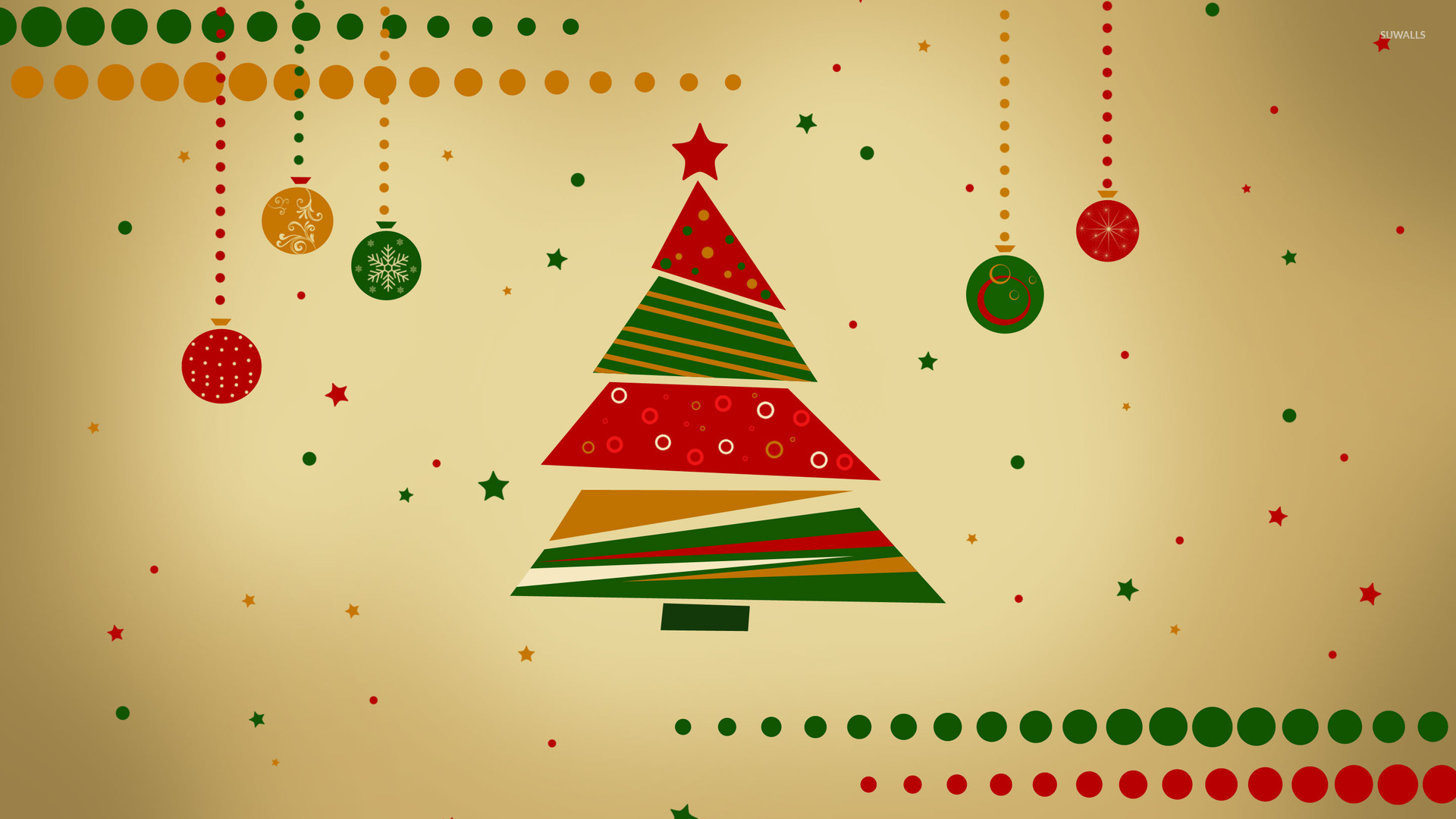 Retro Christmas tree wallpaper - Holiday wallpapers - #25549