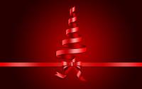 Ribbon Christmas tree wallpaper 2880x1800 jpg