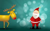 Rudolf and happy Santa Claus wallpaper 1920x1200 jpg