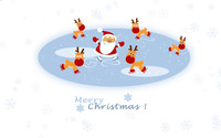 Santa and the reindeers on ice wallpaper 2880x1800 jpg