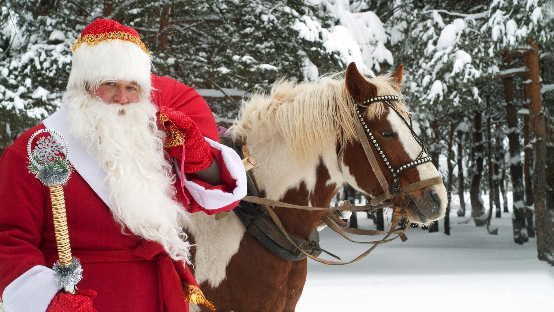 christmas sleigh horses 1920x1080 wallpaper - photo #17