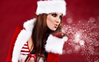 Santa girl wallpaper 1920x1200 jpg
