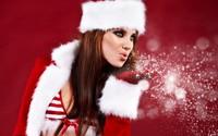 Santa girl wallpaper 1920x1200 jpg