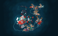 Santa's sleigh wallpaper 2880x1800 jpg