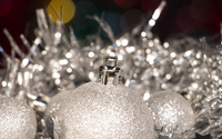 Silver Christmas decoration wallpaper 3840x2160 jpg