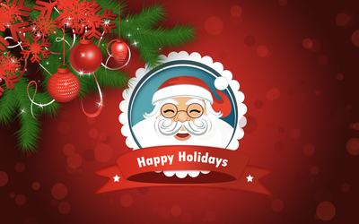 Smiling Santa Claus wallpaper