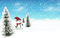 Snowman [5] wallpaper 1920x1200 jpg