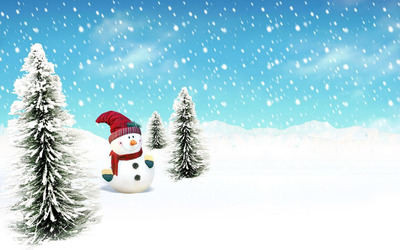 Snowman [5] wallpaper