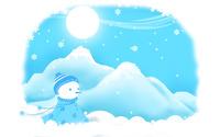 Snowman [8] wallpaper 1920x1200 jpg