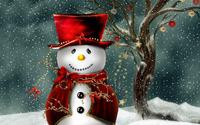 Snowman wallpaper 1920x1200 jpg