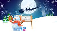 Snowman [7] wallpaper 1920x1200 jpg
