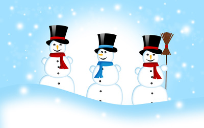 Snowmen wallpaper